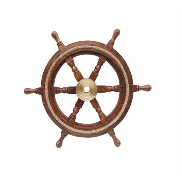 Skeppsratt, 30, med mässingsnav och rep